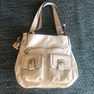 Tyler Rodan Maltese Shopper White Purse Bag